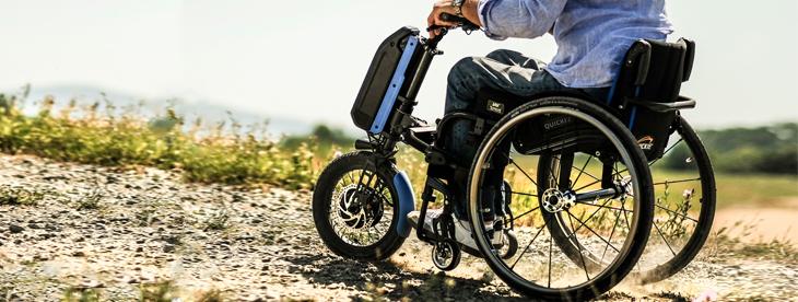 Handbike todoterreno para silla de ruedas