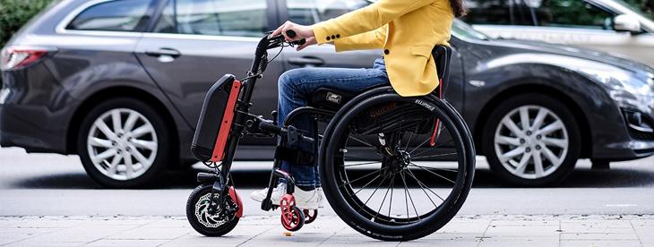 Handbike para silla de ruedas
